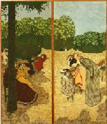 Edouard Vuillard Public Gardens.Little Girls Playing and The Examination oil painting picture wholesale